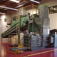 Used/Reconditioned Baler with Shredder and Conveyor