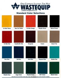 WasteQuip Color Chart